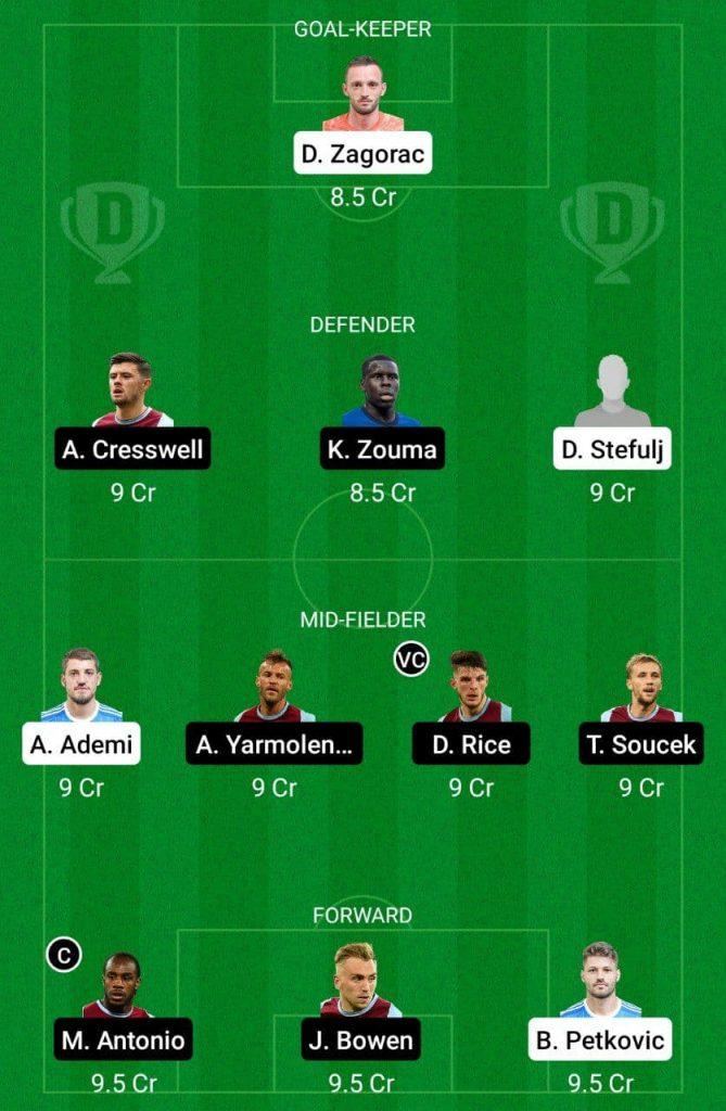 Prediction DIZ vs WHU Dream11 |  Europa League 2021