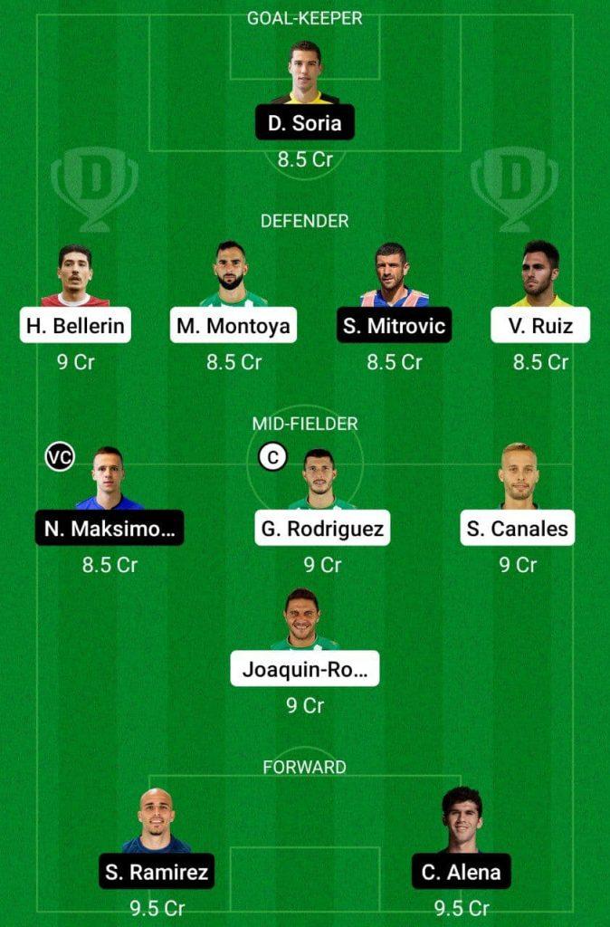Prediction RB vs GEF Dream11    La Liga Santander 2021